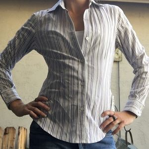 The limited striped dress blouse